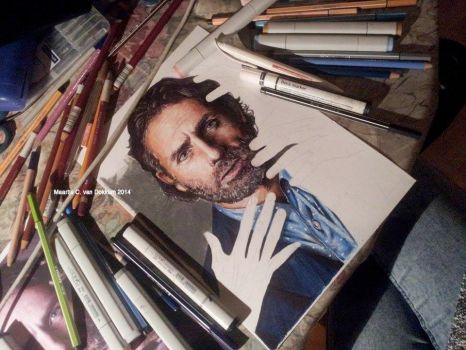 WIP - Andrew Lincoln by MCVD