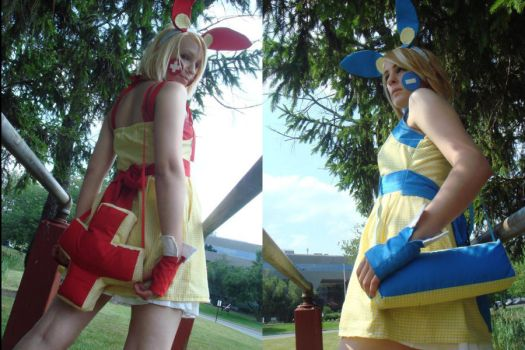 Plusle and Minun Cosplay again by YaoiWowie