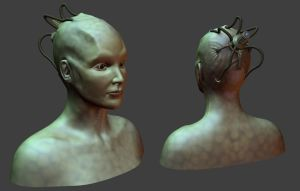 Borg Queen bust by FredrikH