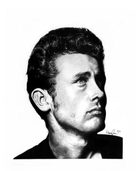 James Dean Commission by LadyovBelial