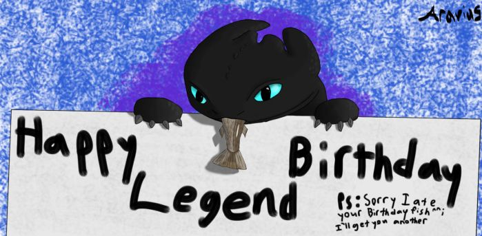 Happy Birthday Legend 2012 by Aravius5