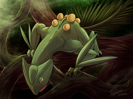Sceptile, King of the Forest by ShawnnL