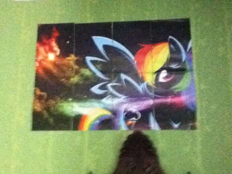 Rainbow dash Poster by MollyFlutter