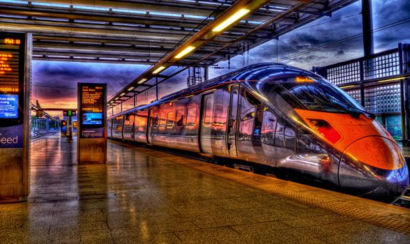 A train to sunset by bozonio