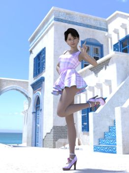 Risa in Provence 03 by Hiroinchiba
