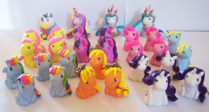 Miniature Ponies by IcyPanther1