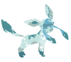 Glaceon Paint Splatter Graphics by HollysHobbies