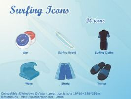 Surfing Icons by mimipunk