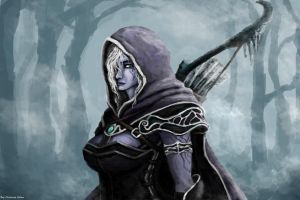 Drow Ranger by molcray