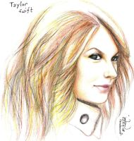 Taylor Swift Colored Portrait by seedlessseed