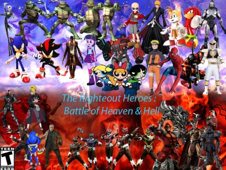 The Righteous Heroes War of Heaven and Hell Pt.2 by DylanCArt
