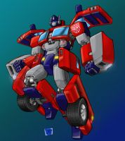 Optimus Pax Robot Colored by Johnny216