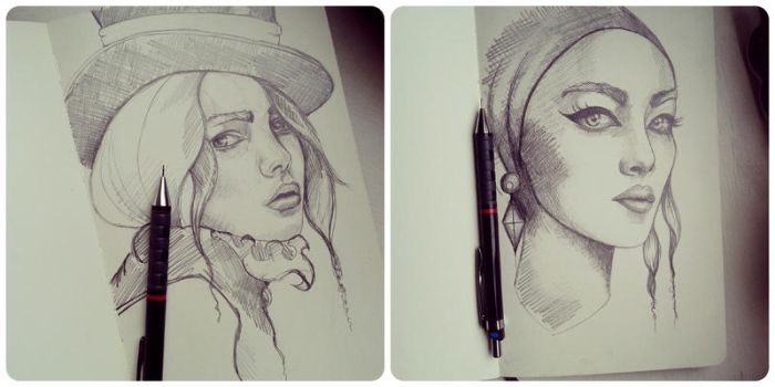 Recent Sketches by xhaimiddleton