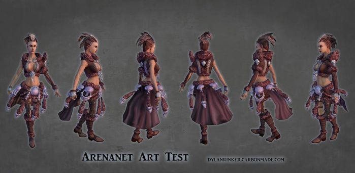 ArenaNet Art Test - Female Model Turnaround by Stoop--Kid