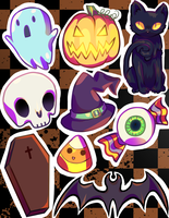 Halloween Stickers by Awful-Critter