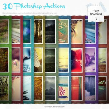30 Free Photoshop Actions Pack by Wnison