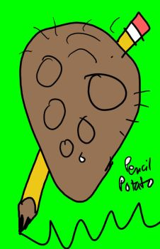 Potato Pencil by KendalisCOOL