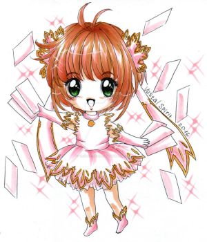 CCS: chibi Sakura new series outfit by Vestal-Spirit