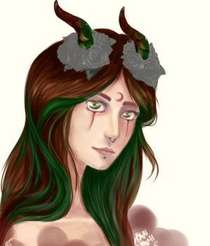 OC - forest lady by Hannami94