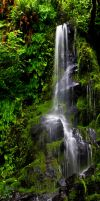 Yachats River Falls by sivousplay