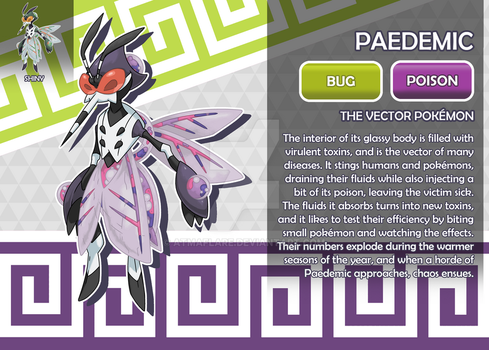Paedemic, the Vector Fakemon by AtmaFlare