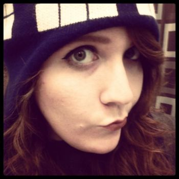 wish it was still cold enough for my TARDIS beanie by irisxchateaubriand