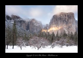 El Capitan - Sunset from El Capitan Meadow by CheshirePhotographer