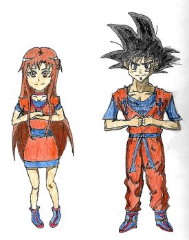 Asuna and Goku's Sword Art Online RP Clothes by spiralmaestro