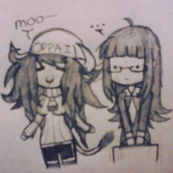 Stop Lacy, you're doing Junko a frighten by KAMEN-RIDING
