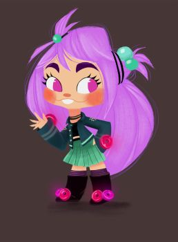 Gummymint Sugar Rush Character Design by Tigermint