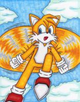 Tails, flying though the Sky by DragonQuestHero
