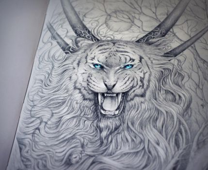 God of Evanescence Night Traditional by JoJoesArt