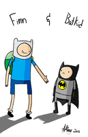 Adventures of Finn and Batkid by Kaggykins