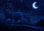 Speedpaint: Starry stallion by Eleweth
