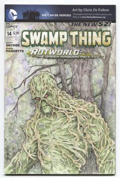Swamp Thing Sketch Cover by ChrisOzFulton
