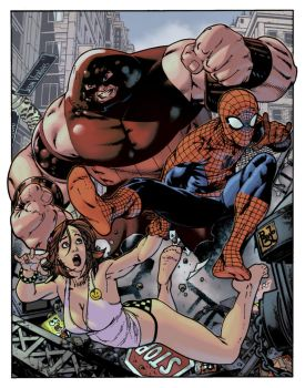 Spidey, Juggs and Norah Jones by EagleGosselin