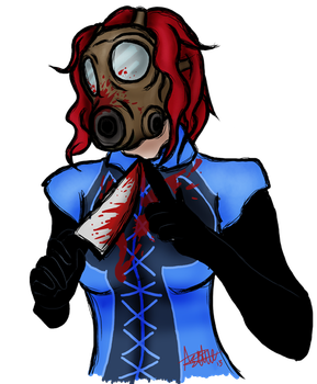 Masked DIsturbed Blue (again) by VenintheMalicious