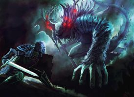 Manus father of the abyss (Dark souls fan art) by Nahelus