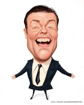 Ricky Gervais by markdraws