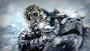 Han Solo on Hoth by minielche