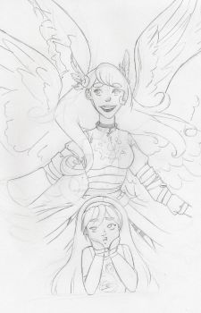 Patron Seraph? Idk its been so long! WIP by MustLoveOme