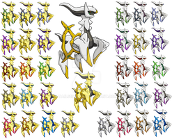 493 - Arceus (All Formes) by Tails19950