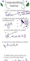 A Handwriting Meme by Eva4Aikka
