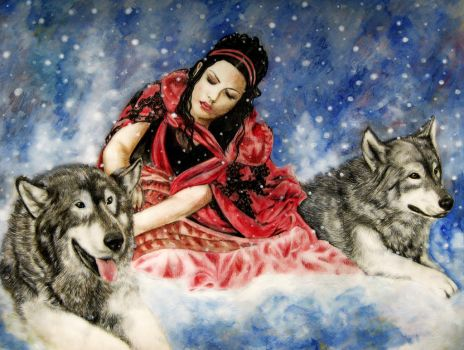 Amy Lee-Wolf's Snow II by ZhaoT