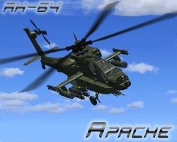 AH-64 Apache by monchiken
