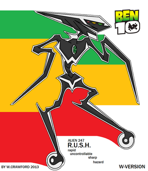 Ben10 Alien R.u.s.h. With Wheels by frgrgrsfgsgsfgggsfsf