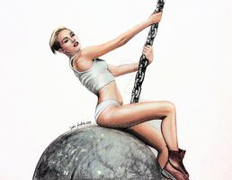 Miley Cyrus Wrecking Ball by jardc87