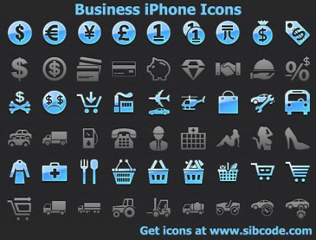 Business iPhone Icons by Ikonod