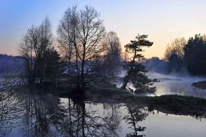 Fog on the river by ohlopkov