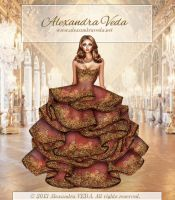 Gold Haute Couture gown by AlexandraVeda